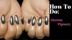 how to chrome nails with no light needed youtube