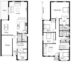 2 Storey House Plans 3 Bedrooms Cool Design 2 Storey House Plans For Narrow Blocks Perth 9 Small