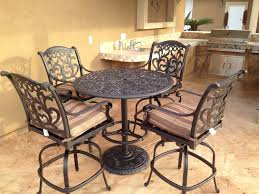 Patio Bar Furniture Sets - mandalay cast aluminum powder coated 5pc outdoor patio bar set