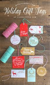 printable holiday gift labels u0026 tags by the lia griffith studio