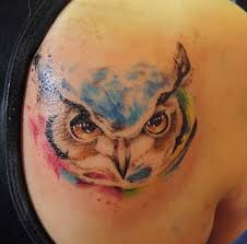 40 nice watercolor owl tattoos