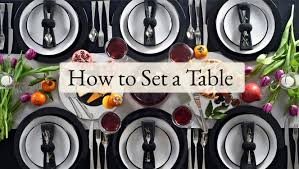Correct Table Setting by How To Set A Table Viners Cutlery