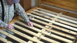wood slat squeaky bed easy fix wood slat bed frame diy wood slat bed frame