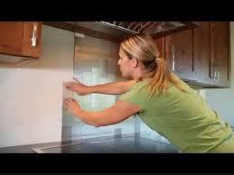 How To Install Peel And Stick Tile Backsplash by Diy Aspect Backsplash Tile Installation Youtube