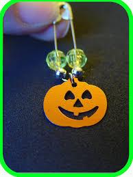 halloween jack o lantern coil less charm pin