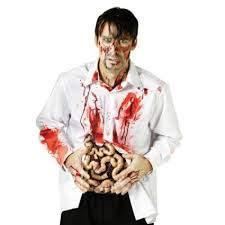 intestines bloody zombie guts halloween costume 4801