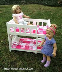 Woodworking Plans Doll Bunk Beds by Ana White Camp Style Bunk Beds For American Or 18 Dolls