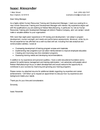 gallery of training and development cover letter examples human