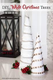 diy white farmhouse christmas trees holiday craft