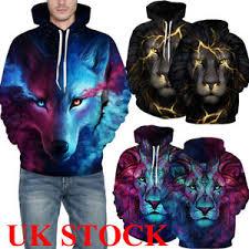 3d sweater uk pullover 3d galaxy wolf hoodies sweatshirt sweater