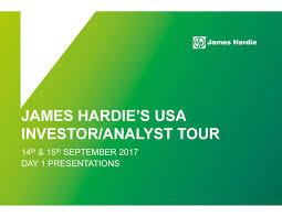 Cemplank Vs Hardie by James Hardie Jhx Investor Presentation Slideshow James