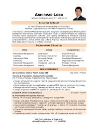 On The Job Training Resume by Ashirvad Lobo Resume
