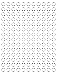 1 Inch Circle Template by Label Templates Ol32 0 5 Circle Labels Maestro