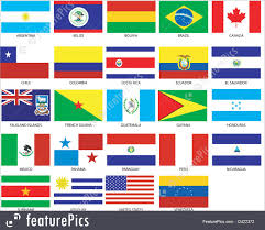 Countries Of The World Flags 24 Americas Flags Illustration