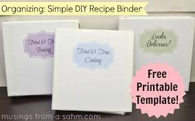 a simple diy recipe binder with free printables