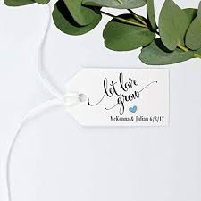 wedding gift tags let grow tag wedding favor gift tag