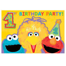amazon com sesame street 1st birthday invitations w envelopes
