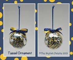 wonderfully made grad tassel ornaments school school