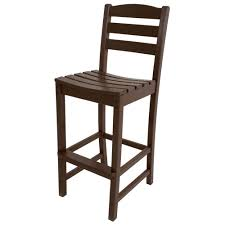 Polywood Syracuse Polywood La Casa Cafe Mahogany Patio Bar Side Chair Td102ma The