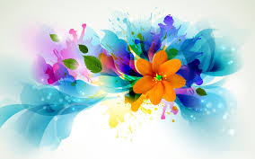 abstract flower drawing wallpaper