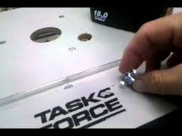 task force router table manual router table height adjustment rod youtube