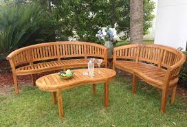 chicteak peanut teak garden bench u0026 reviews wayfair