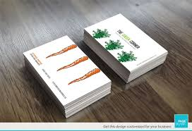 business card template for carrot order custom business card design