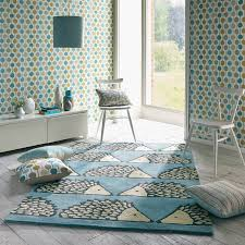 Blue Animal Print Rug Scion Spike Rugs Feature A Playful Hedgehog Design On A Marine