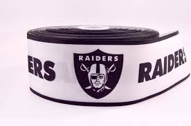 football ribbon 3 wide football oakland raiders sport on grosgrain cheer bow