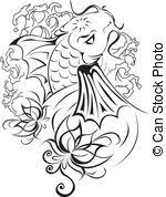 a pair of japanese koi clip vector search drawings and