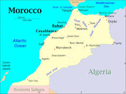 Map Of Morocco And Spain by Pilgrim Feet May 2015