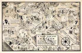 Chelsea Gallery Map 1932 Map Illustrates A Vibrant Nightlife During The Harlem