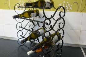 Wire Bakers Rack Organizer Wall Mount Wine Rack Wrought Iron Wire Wine Rack