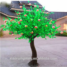 outdoor artificial led types of ornamental plants fruit tree light