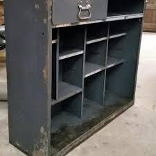 Vintage Metal Storage Cabinet Industrial Vintage Steel Storage Cabinet With One Drawer Open