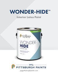 ppg pittsburgh paints wonder hide interior latex paint