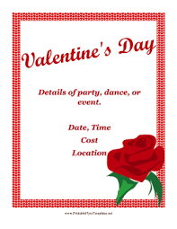 valentines day flyer png