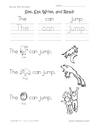 see say write and read worksheet 2 reading worksheets