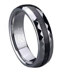carbon fiber wedding band men s tungsten wedding ring with black carbon fiber inlay