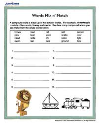 words mix n u0027 match printable english worksheet for kids jumpstart