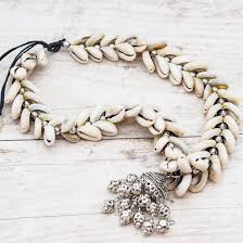 shell necklace images Bohemian cowrie sea shell necklace indie and harper jpg