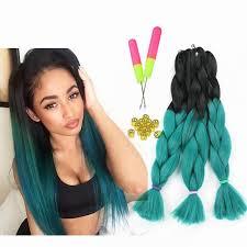 can you dye marley hair ombre box braids kanekalon jumbo braiding hair synthetic two tone