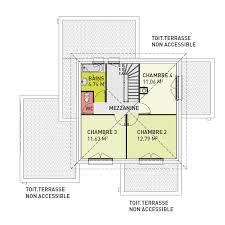 plan etage 4 chambres plan maison contemporaine 4 chambres avec garage olympe maison
