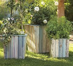 wood barrel planter collection