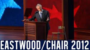 Clint Eastwood Chair Meme - clint eastwood s empty chair speech eastwooding invisible