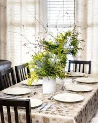dining room artistic green table plant in white vase for dining