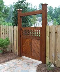 wooden fence gates landscape contemporary with rock freestanding