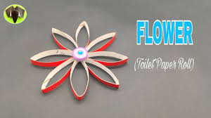 easy flower from toilet paper roll diy best from waste
