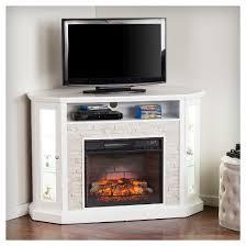 Electric Fireplace Media Center Reza Corner Convertible Infrared Electric Fireplace Media Stand