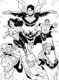 dc comic justice league coloring netart